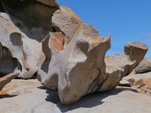 The whimsical shapes of a rock Stock Photos