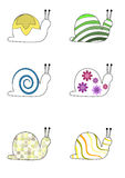 Whimsical snail characters Royalty Free Stock Photos
