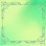 Whimsical square frame with vignettes Royalty Free Stock Image
