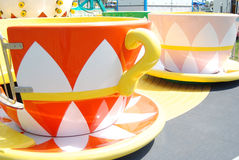 Whimsical tea cup rides at a Carnival Royalty Free Stock Photos