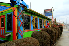 Whimsical theme of colorful nostalgia,The Paper Moon Diner,Maryland,2015 Royalty Free Stock Images