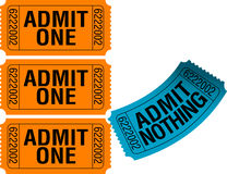 Whimsical Ticket Art Royalty Free Stock Photo