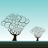 Whimsical tree illustration Royalty Free Stock Images