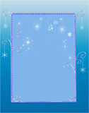 Whimsical Winter Border. Decorative winter border or frame with snowflakes and sparkles Stock Photos