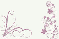Whimsy design of flowers Royalty Free Stock Photo