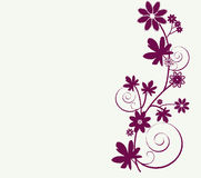 Whimsy design of flowers Royalty Free Stock Photos