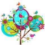 Whimsy flowers stock illustration