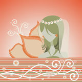 Whimsy Girly stock illustratie