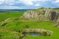 Whin στρωματοειδής φλέβα στη Northumberland Στοκ εικόνα με δικαίωμα ελεύθερης χρήσης