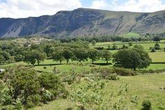Whin Rigg behind verdant fields, Lake District