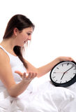 Whining about wake up times Stock Images
