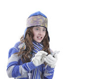 Whinter girl Royalty Free Stock Photo