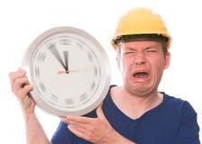 Whiny χρόνος οικοδόμησης (έκδοση χεριών ρολογιών περιστροφής) Στοκ Φωτογραφίες