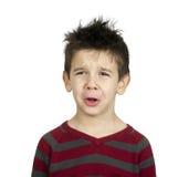 Whiny chłopiec zdjęcie royalty free