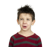 Whiny little boy Royalty Free Stock Photo