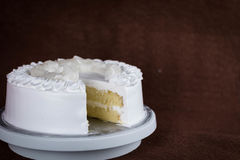 Whip cream cake without topping Royalty Free Stock Photos