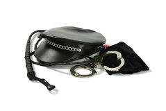 Whip, handcuffs Royalty Free Stock Photo