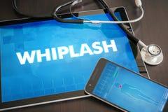 Whiplash (neurologiczny nieład) diagnozy medyczny pojęcie na ta obraz royalty free