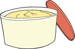 Whipped Butter and Lid Stock Photography