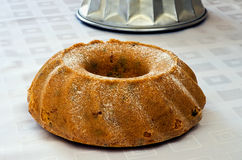 Whipped cake baking pan Stock Photo