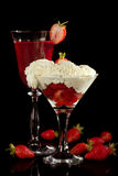 Whipped cream royalty free stock photography