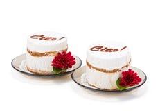 Whipped cream cake Stock Image