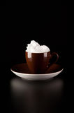 Whipped cream and coffee Royalty Free Stock Photography