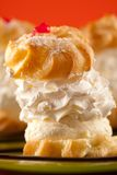 Whipped cream dessert Stock Image