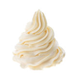 Whipped cream. Isolated on white background Stock Photography
