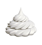 Whipped cream isolated Stock Photos