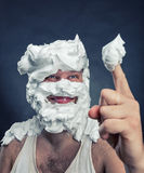 Whipped cream licker Stock Photography