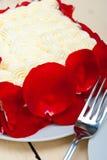 Whipped cream mango cake Stock Image