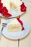 Whipped cream mango cake Royalty Free Stock Image