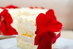 Whipped cream mango cake Royalty Free Stock Photography