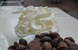 Whipped Cream in Small Bowl Stock Photography