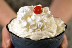 Whipped Cream Sundae Royalty Free Stock Photos