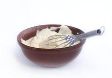 Whipped mayonnaise Stock Photo