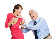 Whipped older man Royalty Free Stock Photo