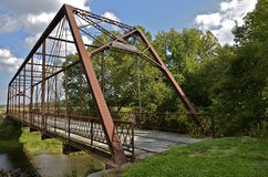 Whipple Truss Bridge Stock Photo