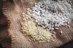 Whire,brow and basmati rice Stock Photo