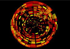 whirl цифрового imag красный фактически Стоковое Изображение RF