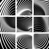 Whirl movement. Abstract backdrops. Whirl movement. Abstract backdrops set. Vector art royalty free illustration