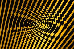 Whirl Pool of Spiralling Danger (Black and Yellow) vector illustration