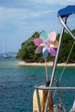 Whirligig на яхте Стоковые Изображения