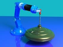 Whirligig com robô Imagens de Stock Royalty Free