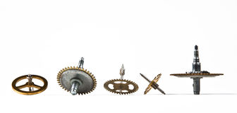 whirligigs from an old clock stock photography