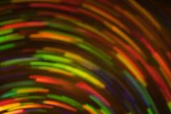 Η θαμπάδα φλογών φακών γραμμών περιστροφών νέου το φως στοκ εικόνες με δικαίωμα ελεύθερης χρήσης