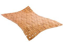 Whirling bamboo mat floating in the air Royalty Free Stock Photo