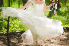 Whirling Bride Royalty Free Stock Photography