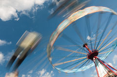 Whirling carousel on the sky Royalty Free Stock Photography